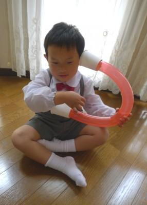 簡単工作!風船で楽器(ハープ)を作ろう♪