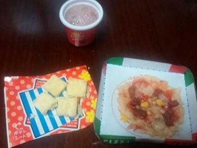 雨の日にもってこい、お菓子ミックスピザ