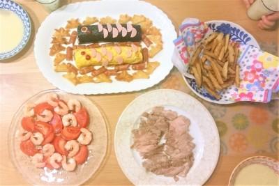 GW【こどもの日・ズボラ料理】ミニミニ兜春巻きスナック作り