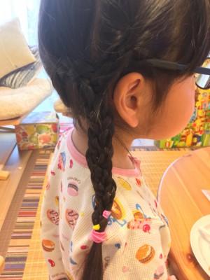 不器用ママの三つ編みヘアアレンジ