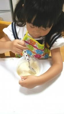 【クッキング】キットで簡単に!4歳のケーキ作り!