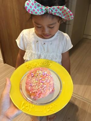娘とケーキ作り★