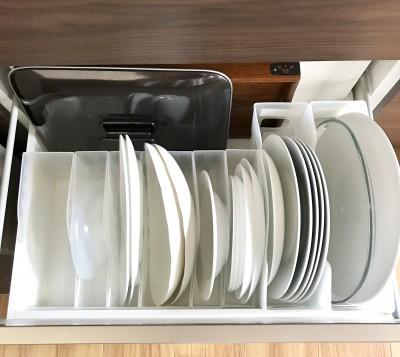 きれいで使いやすい食器棚収納②(深い引き出しの使い方)