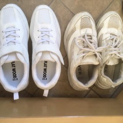学校指定の白い靴・替え時はいつ?