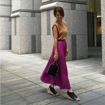 那須小旅行+GU新作のロングスカート