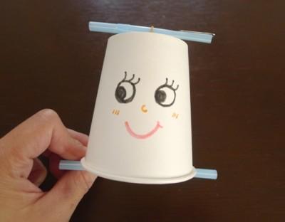 【コトコト人形】紙コップで簡単工作!コトコト人形♪