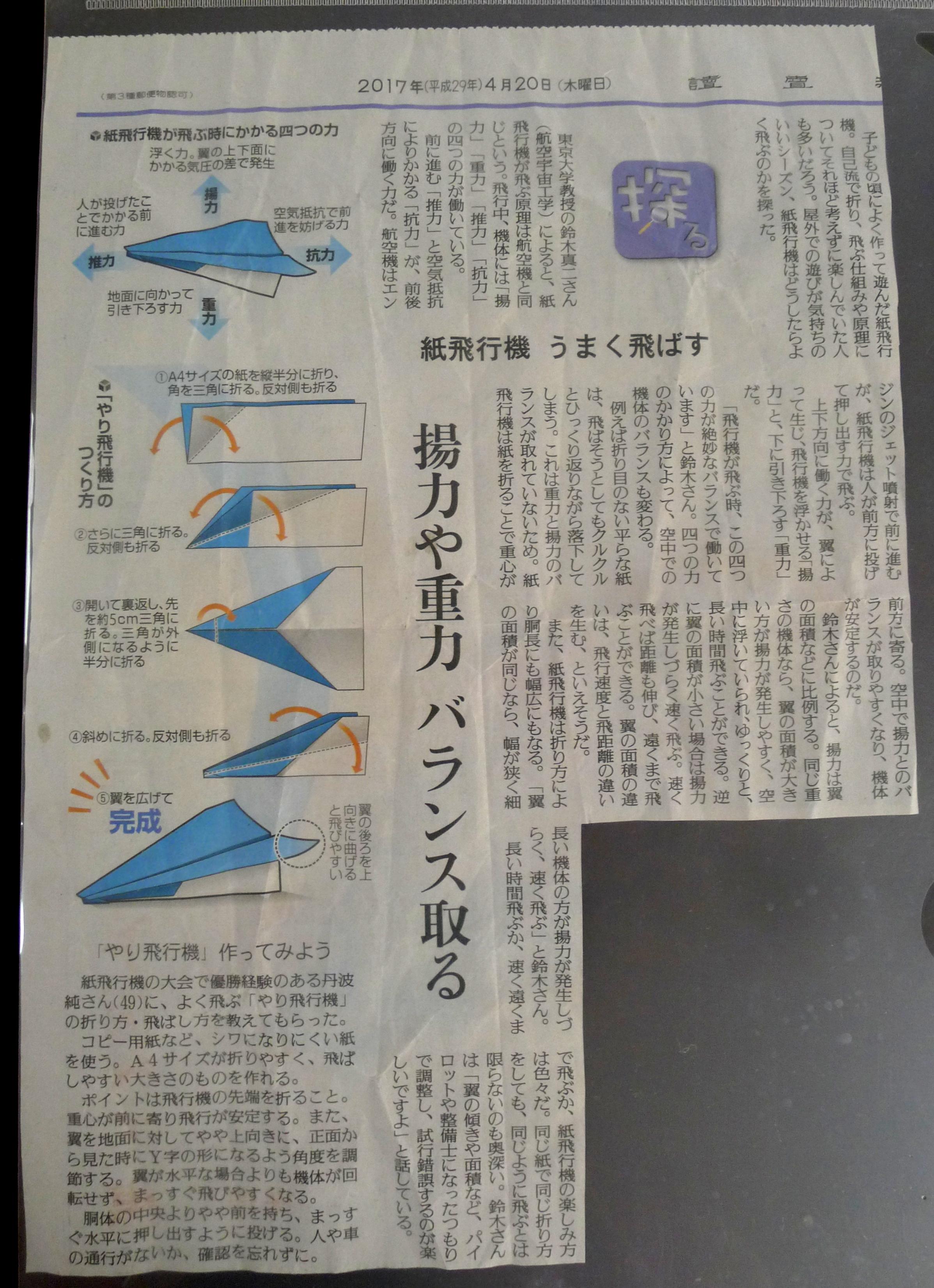 よく 飛ぶ 紙 飛行機 の 作り方