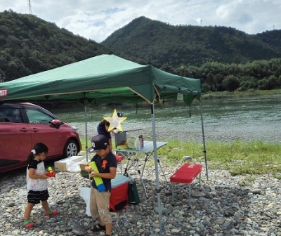 長良川でBBQ
