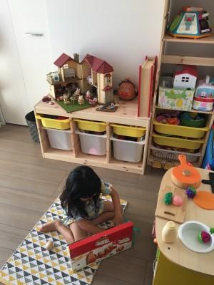 子供部屋作りの道④カインズで買った棚で見せる収納