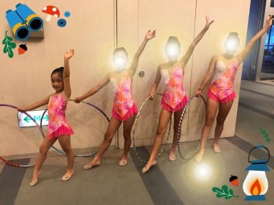 【習い事】6歳 娘 新体操の発表会 簡単そうで難しいフープとロープ
