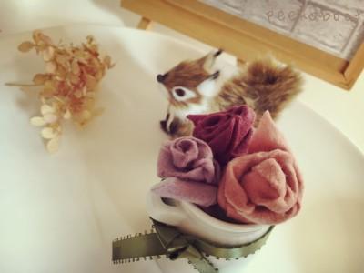 こどもと一緒にハマる!超簡単!フェルトでかわいいミニバラの作り方