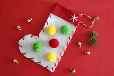 縫わずに簡単!子供とクリスマスソックス・靴下を手作り[作り方]