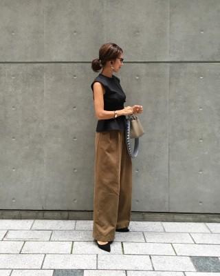 暑い日に着る秋カラー夏コーデ