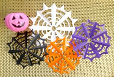 ハロウィン:超簡単!折り紙で作る「蜘蛛の巣」