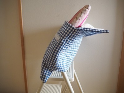 382☆直線縫いで簡単!小学校用背もたれタイプ防災頭巾カバーの作り方