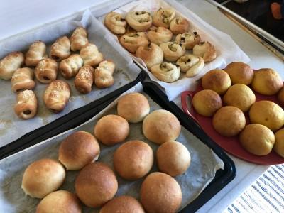 ホームベーカリーは持っていません!全て手ごねの焼きたてパン。