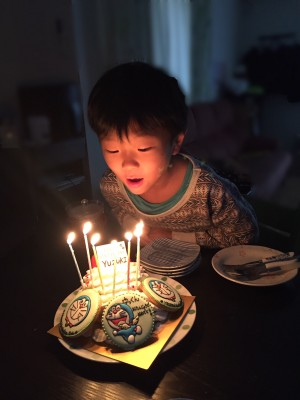 7歳の誕生日ケーキ アイシング