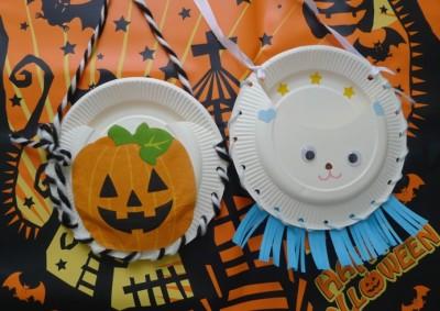 簡単&手軽!紙皿ハロウィンバックの作り方☆