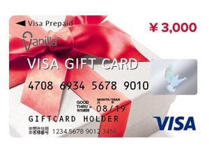 お店でもインターネットでも使える「バニラ Visa ギフトカード」3000円分を5人に!