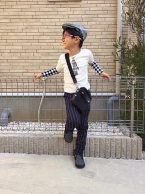 秋ファッション 息子ファッション