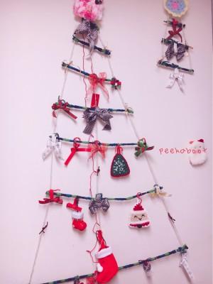 【クリスマス】簡単ウォールツリー場所もとらない&お正月にも飾れちゃう!