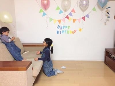 ダイソーのバルーンが可愛い!3歳の誕生日パーティはアンパンマンづくし♪