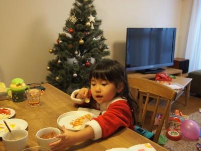 子供主役のクリスマスピザパーティー