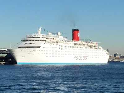 世界一周クルーズ PEACE BOATの船内見学 船内はこんな感じ