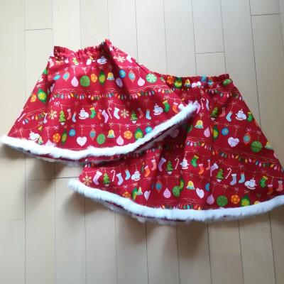 クリスマスに手作りスカート♪