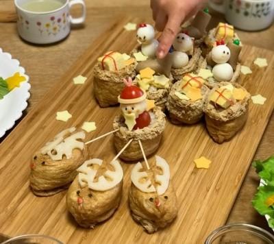 クリスマス直前♪お稲荷で作るチームサンタ&パーティが盛り上がるお料理!
