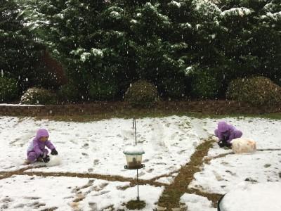 大事な日に雪でした。
