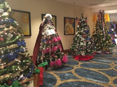 クリスマス名物 Hyatt Regency Greenville のツリー