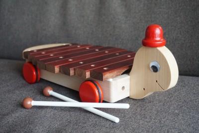 【オススメおもちゃ】木のおもちゃ KOIDE カメさんシロフォン