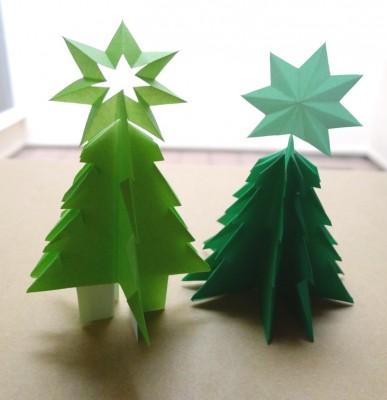 簡単!折り紙1枚で作るクリスマスツリー☆