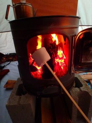 【冬キャンプ】薪ストーブ持参!外との温度差27度の世界。笑