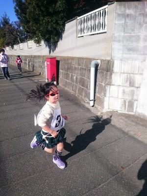 娘とともにマラソン大会♪3km無事完走ヾ(*´∀`*)ノ