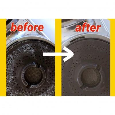 【掃除】シャワーヘッドの水垢をスッキリ落とす!