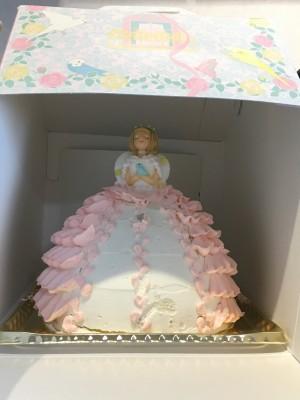 プリンセス 立体ケーキでお祝い