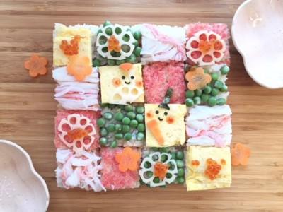【行事ママ】ひなまつりに♪意外に簡単♪モザイクおし寿司でお祝いしよう♪