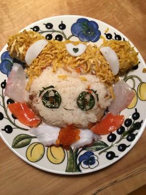 はぐたんちらし寿司出来たー!!!