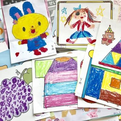 どうする⁉︎大量の幼稚園の作品