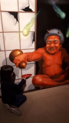 東京トリックアート迷宮館(東京都港区台場)を楽しむ年長