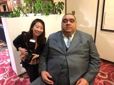 大相撲春場所!元横綱 武蔵丸関の武蔵川部屋の撮影