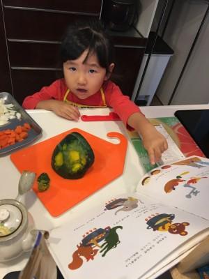娘と作る絵本レシピ☆ポポくんのかぼちゃカレー
