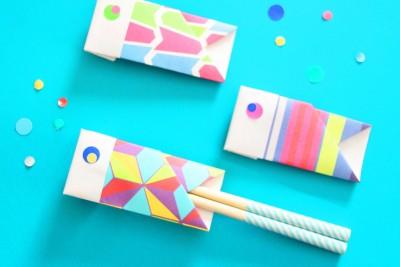 こどもの日の料理を飾る「折り紙の鯉のぼり箸袋」を手作り