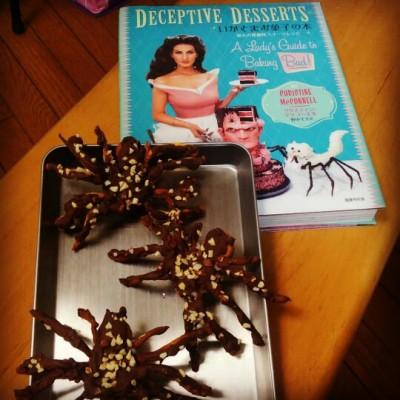 『いかさまお菓子の本』掲載、タランチュラクッキーを作ってみました!