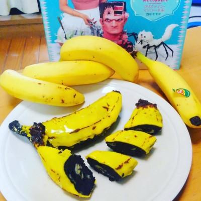 いかさまお菓子の本掲載、バナナそっくりバナナブレッドを作ってみました!