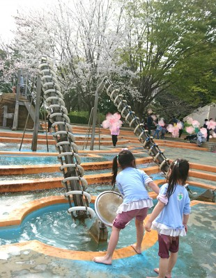 [ふなばしアンデルセン公園]後半!小さい子も安心!?水遊びエリアも。