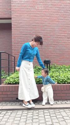 【親コーデ】Blue×White