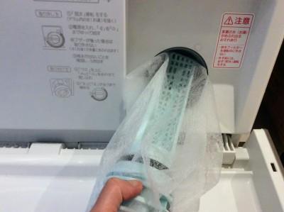 【失敗後】ドラム式洗濯機フィルターに水切ネットが大活躍!!